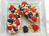 Fresh Berry Toasts with Sweet Ricotta