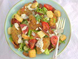 Fried Green Tomato blt Salad for #SundaySupper