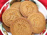 Gingerbread Shortbread Cookies