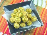 Goat Cheese, Grape and Pistachio Truffles