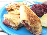 Grilled Reuben Quesadillas #src