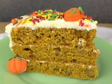 Harvest Pumpkin Layer Cake #PumpkinWeek