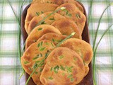 Indian Garlic Stuffed Naan Bread for #BreadBakers
