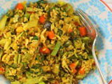 Indian Style Vegetable Fried Rice #FarmersMarketWeek