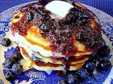 It's National Blueberry Pancake Day