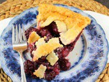 Lattice Top Blackberry Pie #BakingBloggers