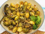 Lemon and Garlic Roasted Brussels Sprouts