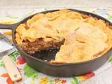 Low Sugar Skillet Apple Pie #BakingBloggers