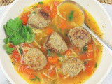 Meatball and  Noodle Soup (Sopa Albondigas con Fideo) #SoupSwappers