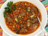 Pantry Beef Vegetable Soup #SoupSwappers