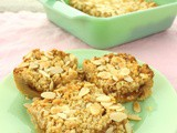 Peach Crumble Bars for #FoodieExtravaganza
