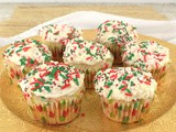 Peppermint Confetti Cupcakes #NationalCupcakeDay