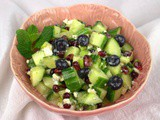Persian Blueberry Anar Salad with Cucumber #BlueberryWeek