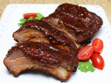 Ribs with Whiskey Maple Barbecue Sauce #SundaySupper