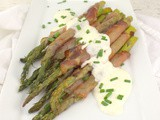 Roasted Asparagus with Speck and Creamy Horseradish Sauce #ImprovCookingChallenge