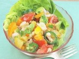 Roasted Garlic Baja Shrimp Salad