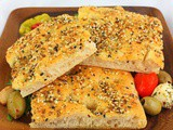 Savory Seeded Focaccia #BreadBakers