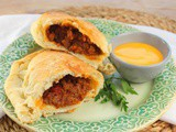 Sloppy Joe Calzones #Back2School #Ad #RhodesBread