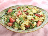 Strawberry Caprese Pasta Salad for #ImprovCookingChallenge