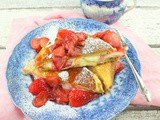Strawberry Cheesecake Stuffed French Toast #EighteenCheesecakes