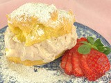 Strawberry Cream Puffs #BakingBloggers