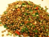 Green Lentil Salad with Parsley and Fresh Mint- Mercimek Piyazı