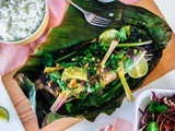 Cambodian Sour and Spicy Steamed Fish Recipe with Lemongrass and Galangal