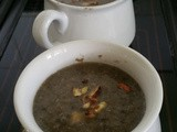 Mushroom and Hazelnut Soup
