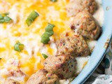 Baked Chicken Meatball Cheese Dip