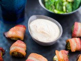 Brussels Sprouts Bacon Bites with Aioli