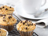 Chocolate Chip Peanut Butter Muffins with Peanut Butter Icing