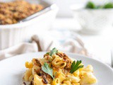 Green Chile Mac & Cheese with Texas bbq Brisket