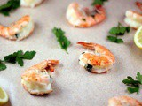 Grilled Mozzarella Stuffed Shrimp