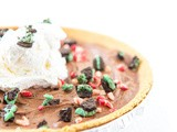 No Bake Chocolate Candy Bar Pie