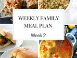 Weekly Family Meal Plan Week 2