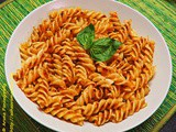 Pasta with Sun-dried Tomato Basil Pesto