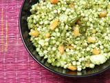 Spicy Sabudana Khichdi with Coriander and Green Chilly Paste | Recipe by Shobha Deshmukh