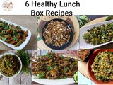6 Lunch Box Recipes /Vegetarian Lunch Box Ideas | Healthy Meal Prep Recipes for Work