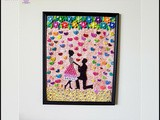 Amazing Anniversary Gift Idea: Handmade Quilled Couple Proposing Wall Frame