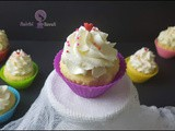 Eggless Vanilla Cupcakes Without Oven