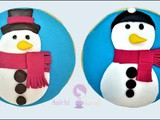 Fondant Tutorial: Cookies decorated into winter snowman