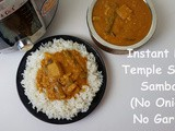 Instant Pot Indian Temple Style Sambar (No Onion-No Garlic, Vegan Recipe)