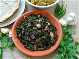 Red Spinach Leaves Stir Fry (Laal Bhaji) लाल माठ भाजी