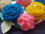 Tutorial: How to make decorative flowers from sweet moong bean paste