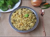 Vegan and Protein Rich Spinach / Palak Pulao in Instant Pot