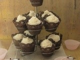 Red Velvet Cupcakes con frosting al cocco