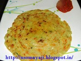 Akki Rotti with Carrots & Cucumber