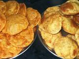Banana -Wheat -Curd Poori