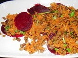 Beetroot - Carrot and Whole Moong Salad