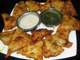 Dil Leaves - Sweet Potato  Palya (Dry Curry ) & Samosa